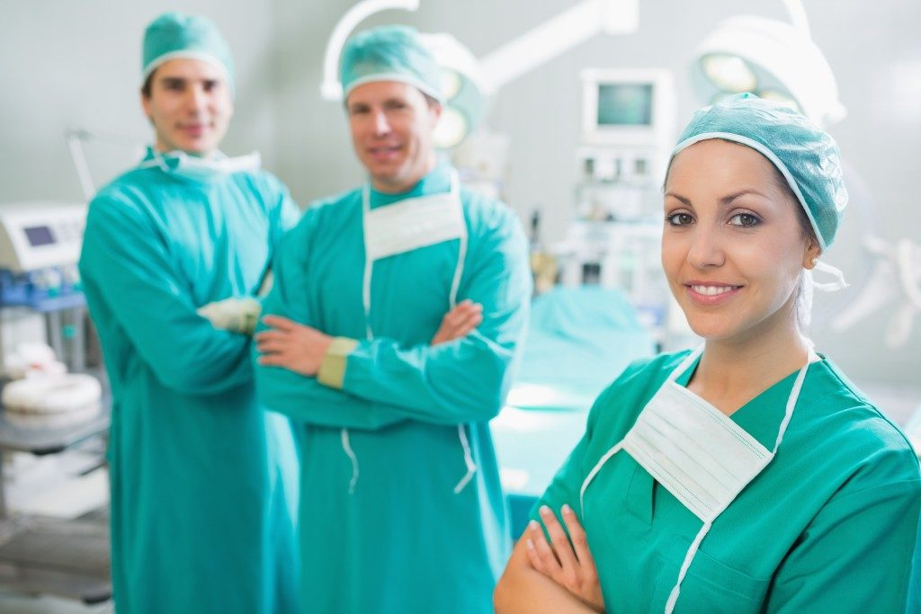 surgical team inside the OR