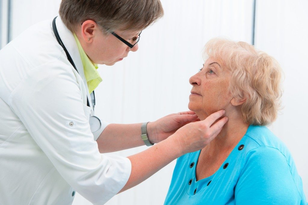 senior having a checkup