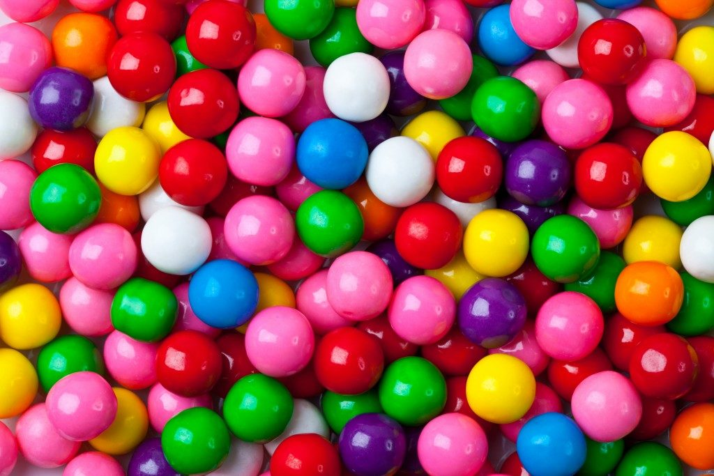 Colorful assortment of gum balls