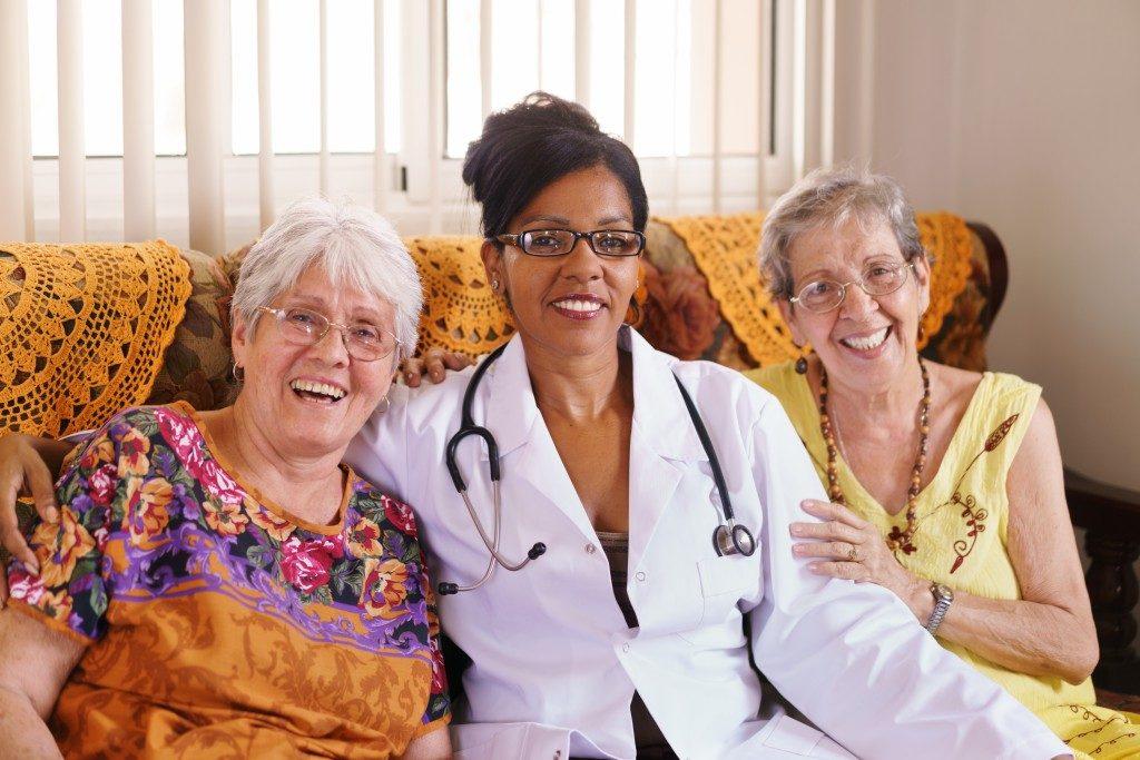 doctor with elderly women