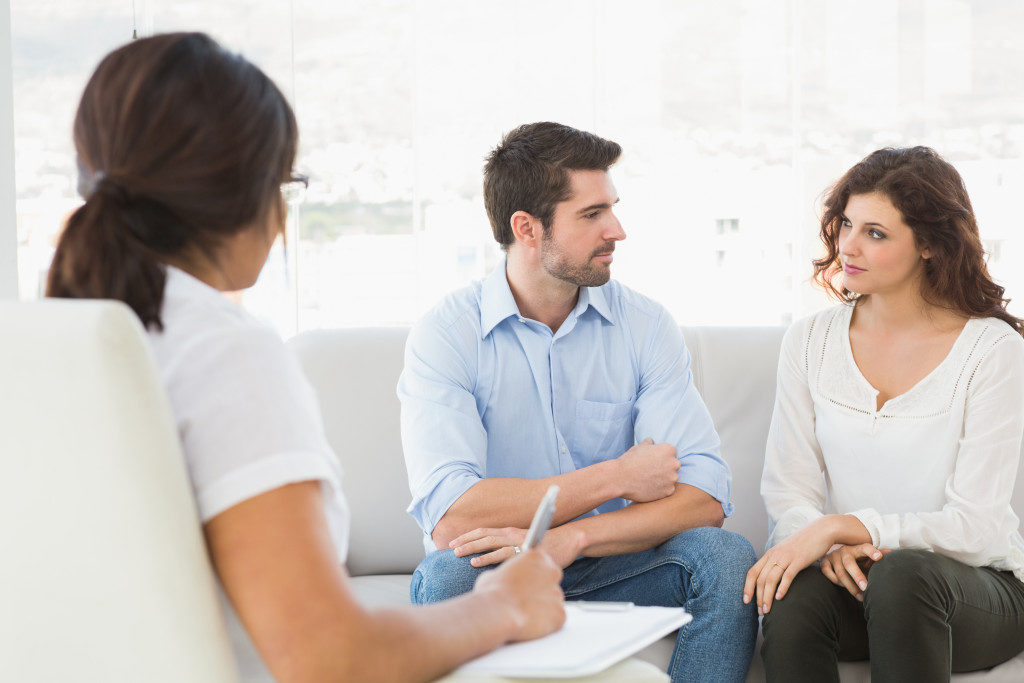couple in marriage counselling